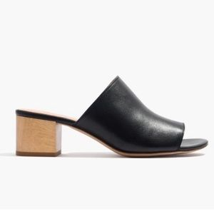Madewell Devon black leather mules
